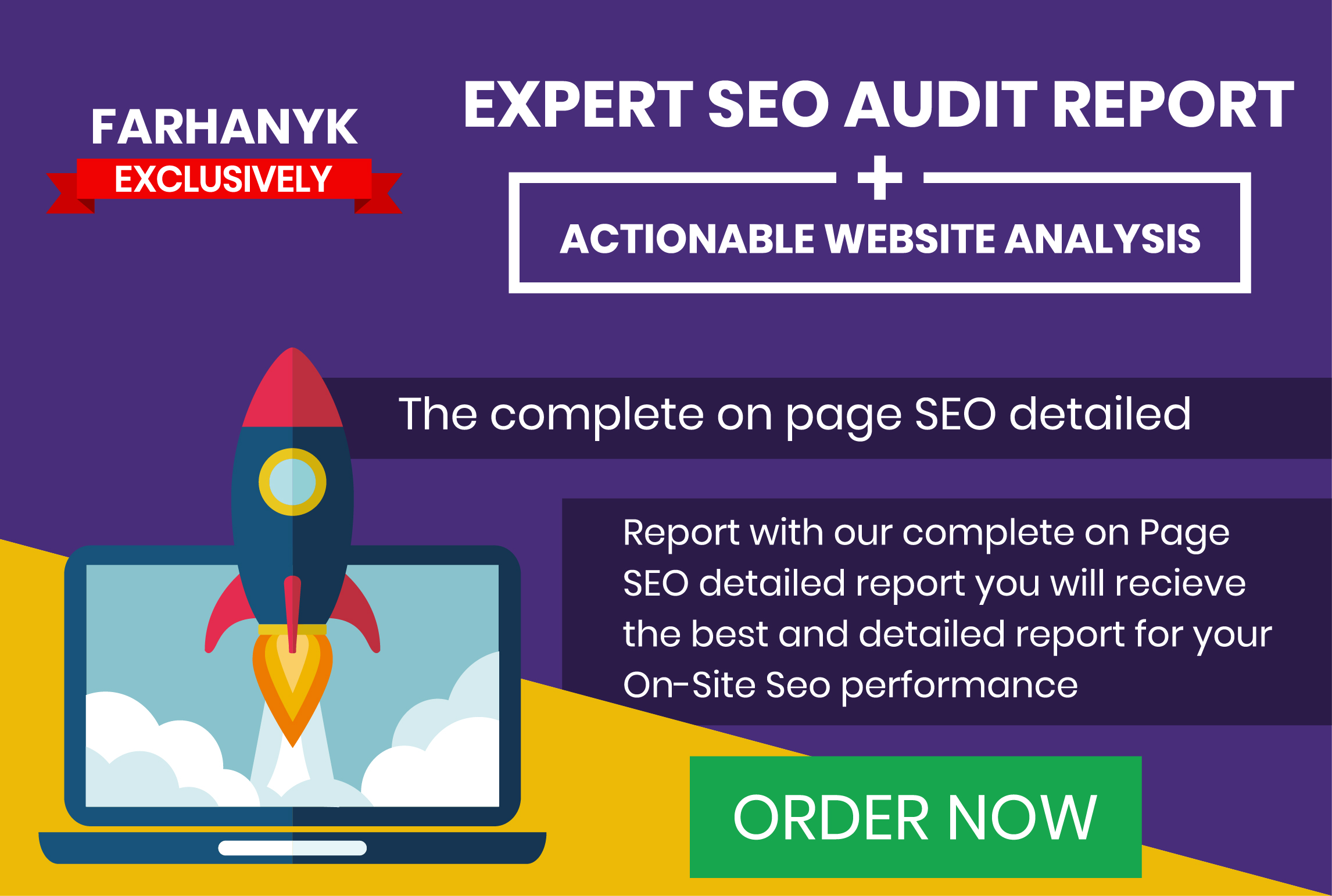 give u a professional step by step SEO audit report for your website
