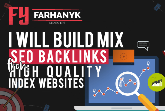 I will Build Mix SEO Backlinks from High Quality Index Websites
