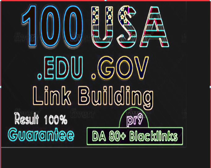 Manually Create 50 Edu/Gov and 20+ High DA PR9 Backlinks For Google top rank.