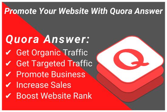 I will provide Niche Relevant 20+ HQ Quora Answer with unique article