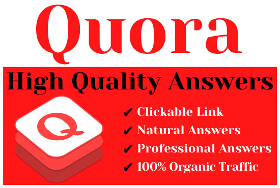 Offer 3 high quality quora answers with your keyword & url