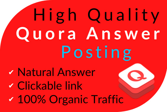 Promote your website in 6 HQ Quora Answers with contextual link