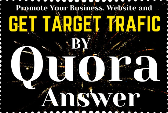 Promote your business or website in 60 unique HQ Quora Answers with contextual link