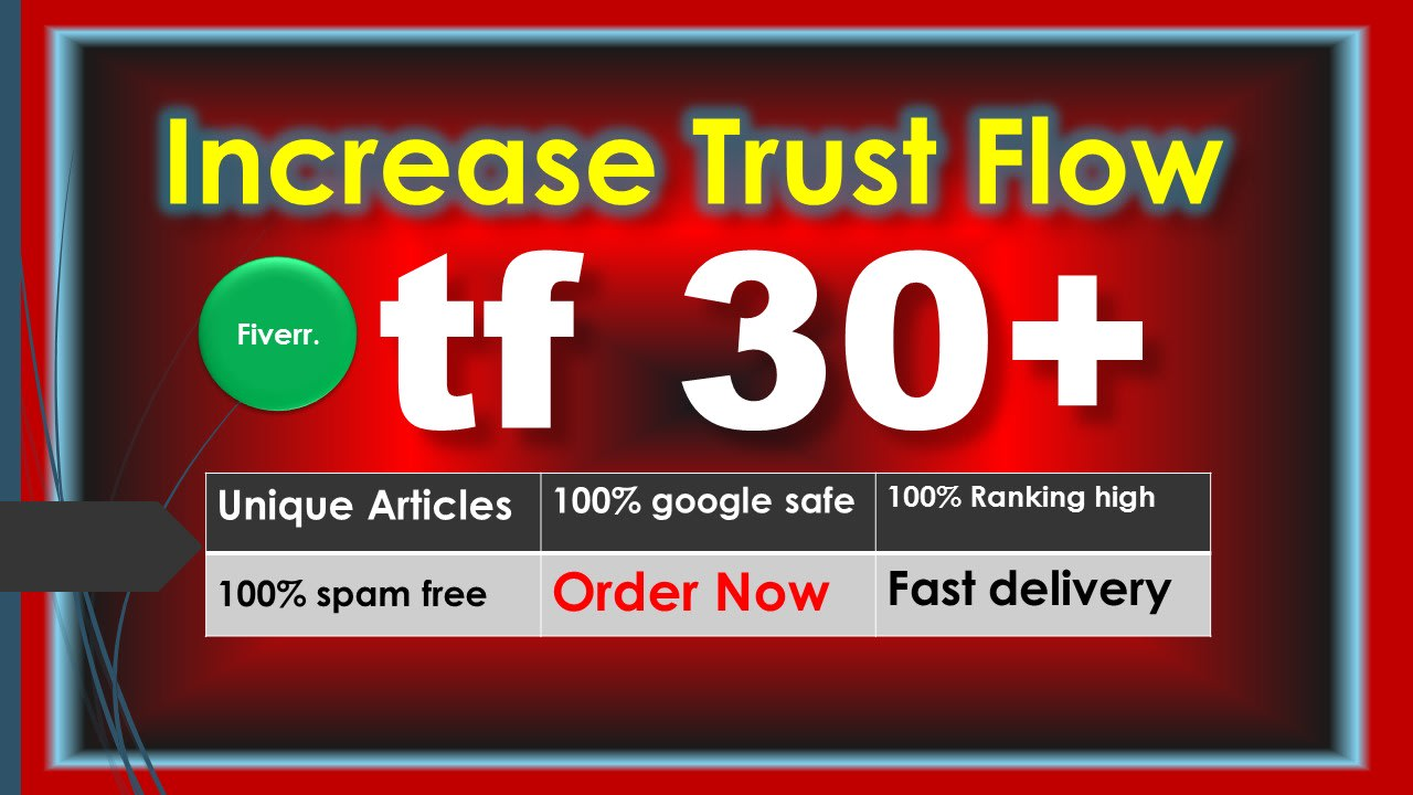 I will increase majestic tf cf 30 plus guaranteed white hat seo