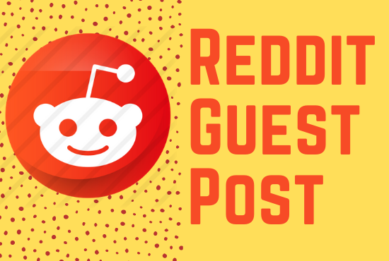 Promote your website 5 high quality reddit guest post with your keyword and URL