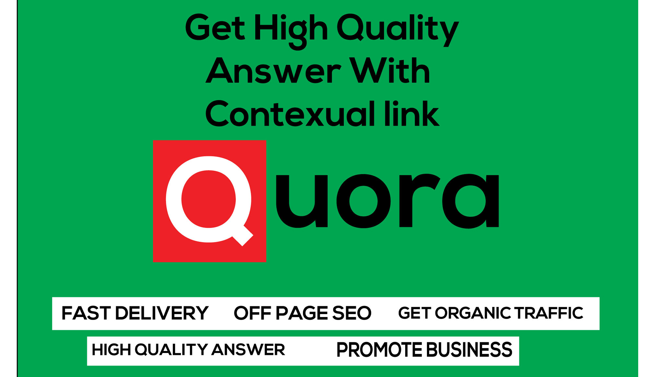 Provide you 5 HQ guaranteed fast Quora Answer service with your keyword & URL