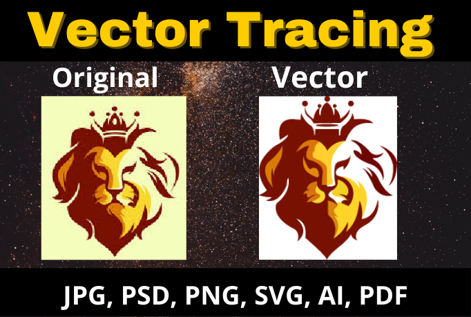 I will vector tracing,  logo to vector within 3 hours