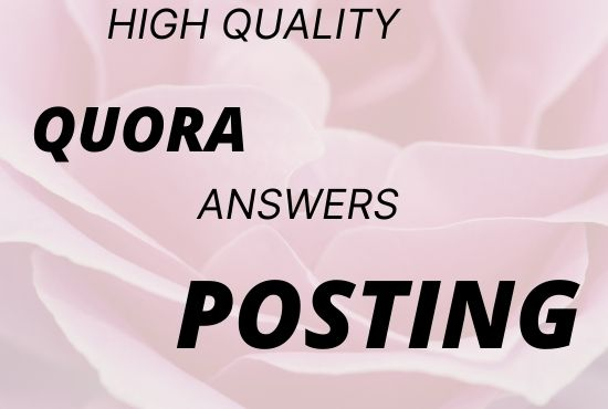 Enhance your website 5 HQ Quora answers with your keyword & URL