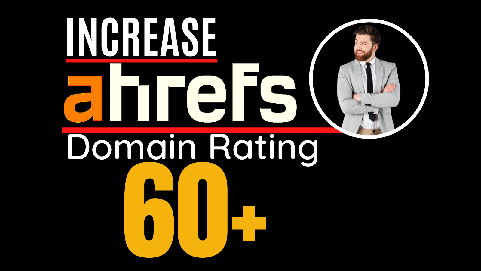 I will increase ahrefs domain rating,  increase ahrefs DR 60 plus