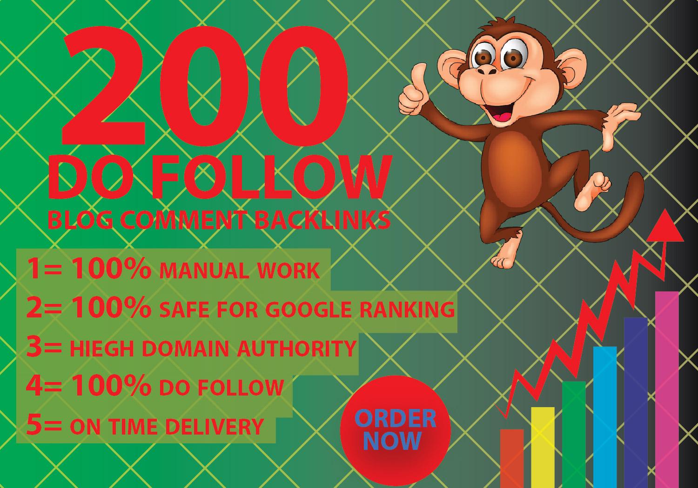 I will provide 200 niche relevant blog comment backlinks