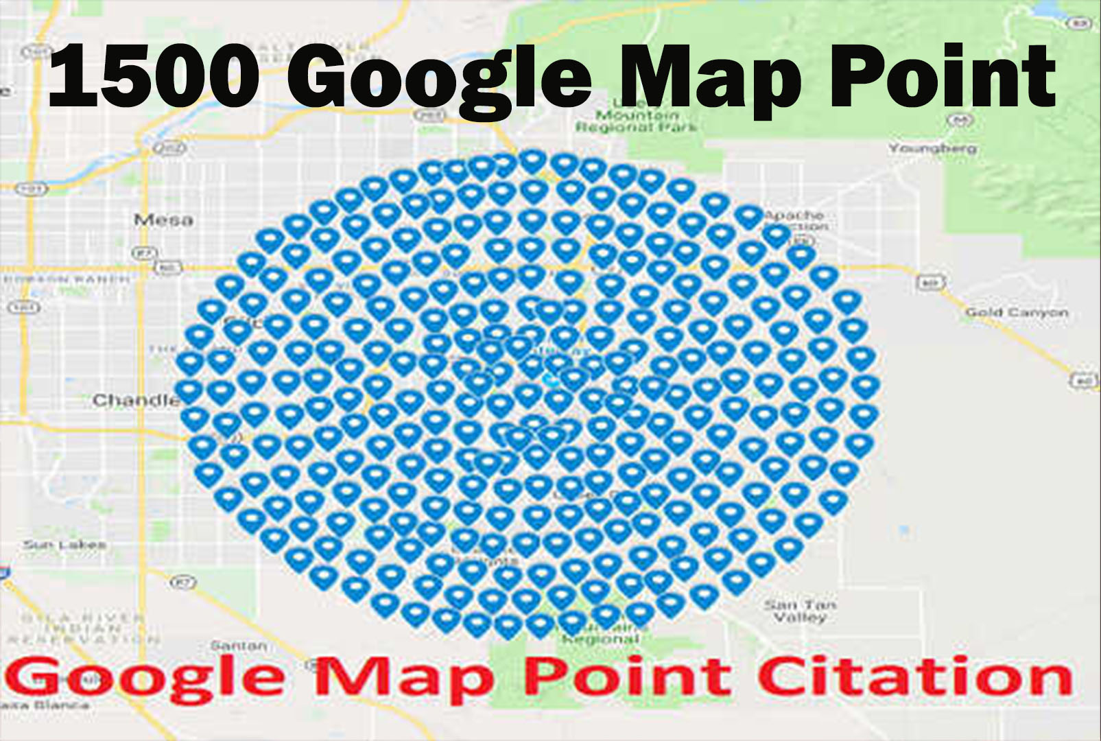 I will Create 1500 Google Map Point Citations For Local Business SEO