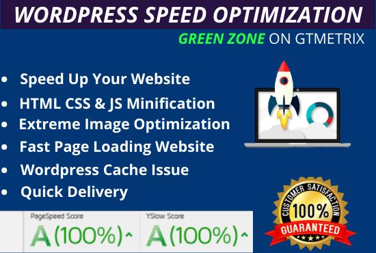 I will do wordpress speed optimization,  increase page speed