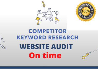 I will do SEO Keyword Research for your website on time