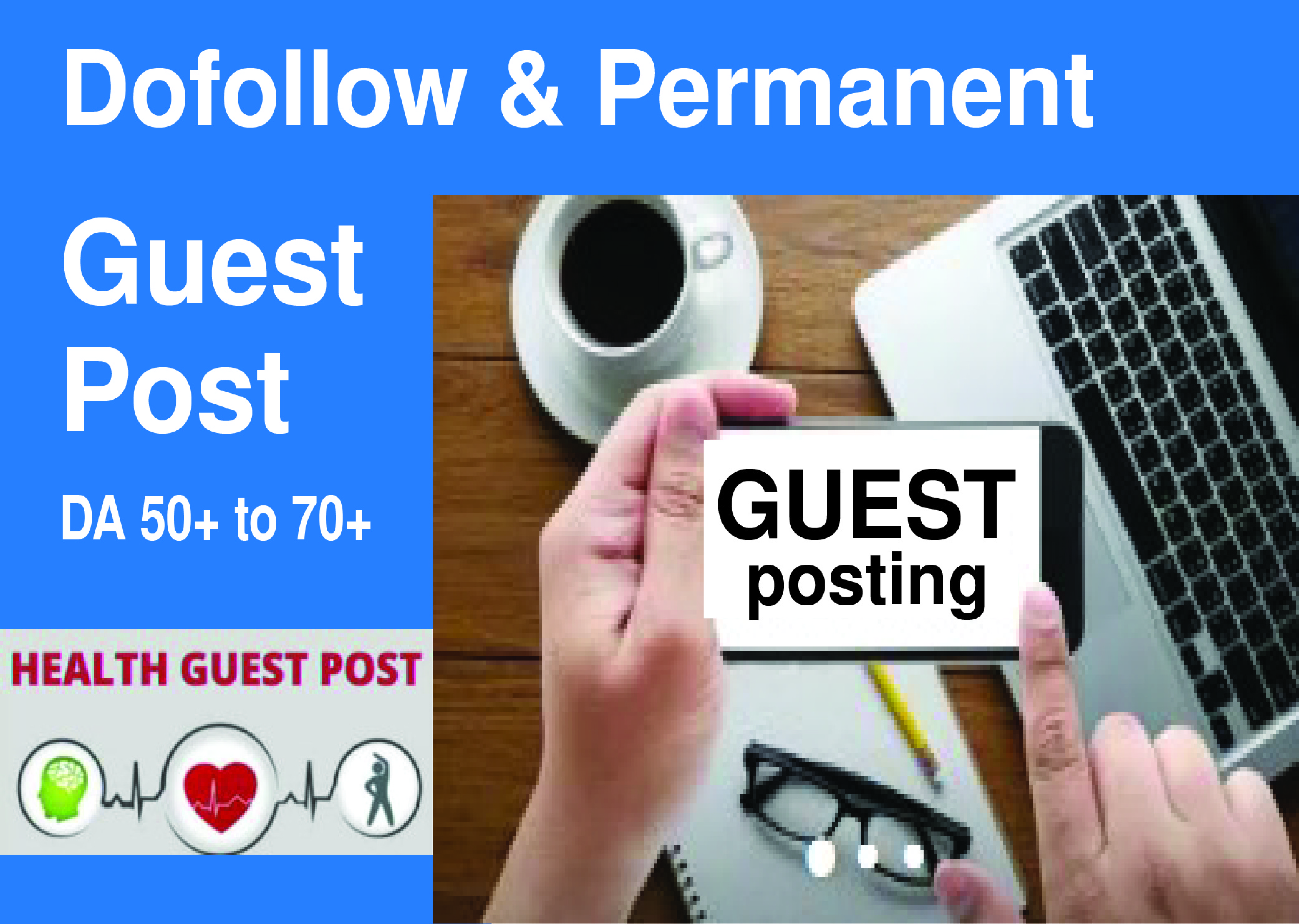 I will do health guest post on website or blog