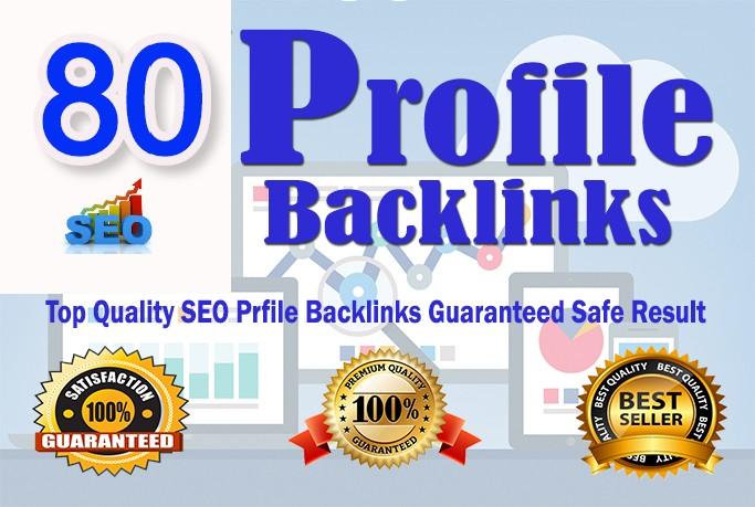 I will create 80 profile backlinks manually on high da sites for website ranking