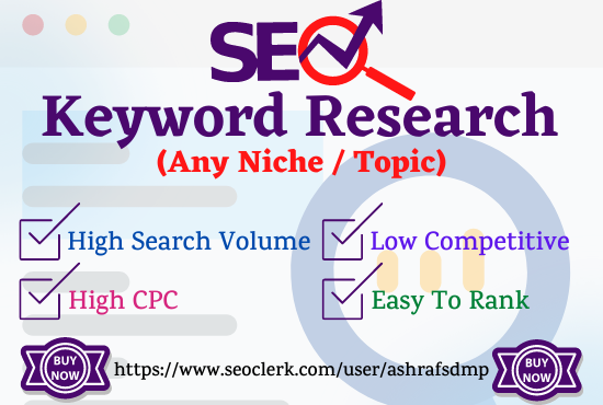 100 Excellent SEO Keyword Research to rank your site fast