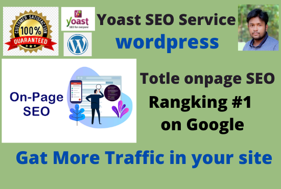 I will do wordpress onpage yoast SEO