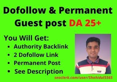 I will publish dofollow and permanent guest post high da website