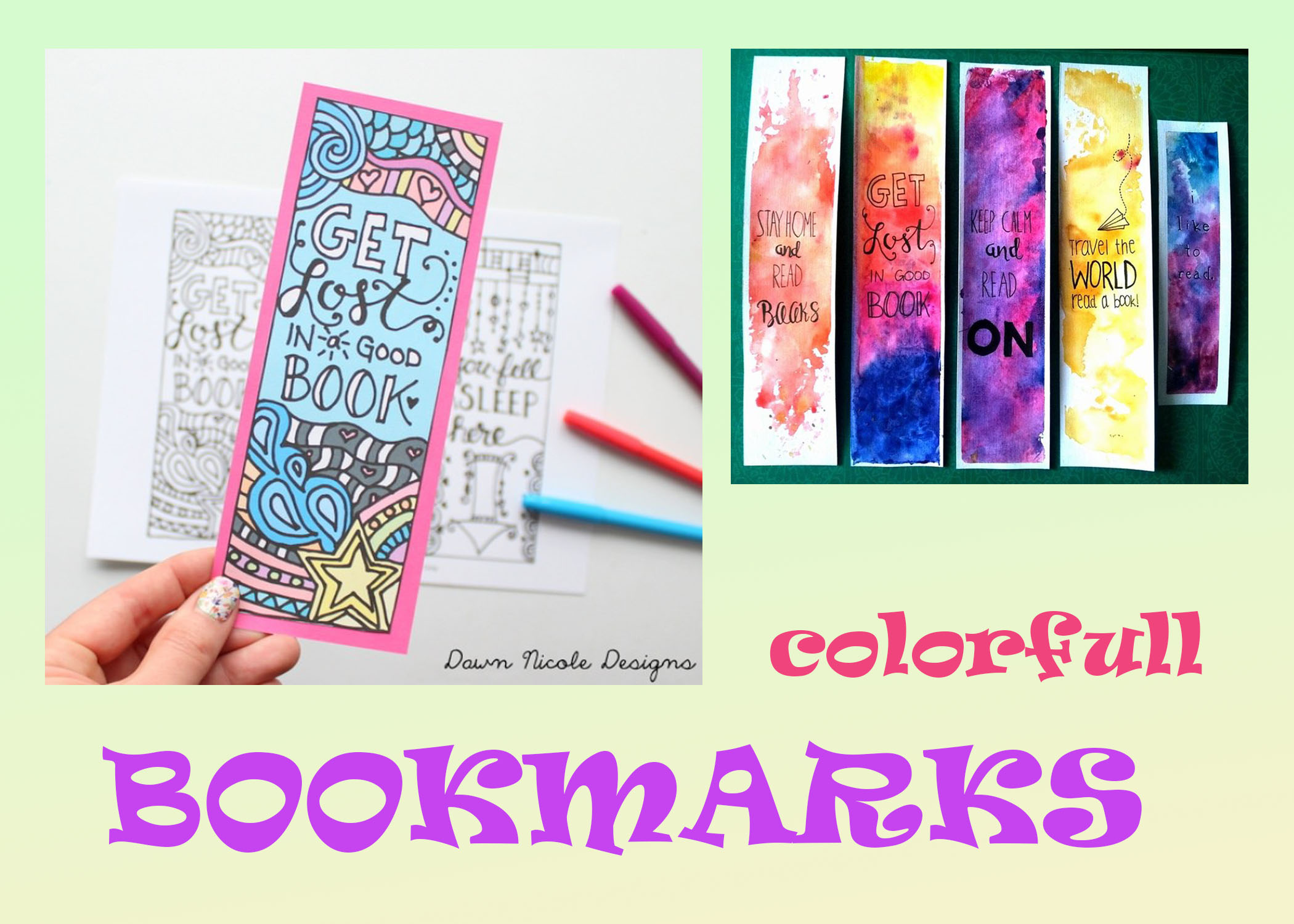 design a print ready bookmark for you