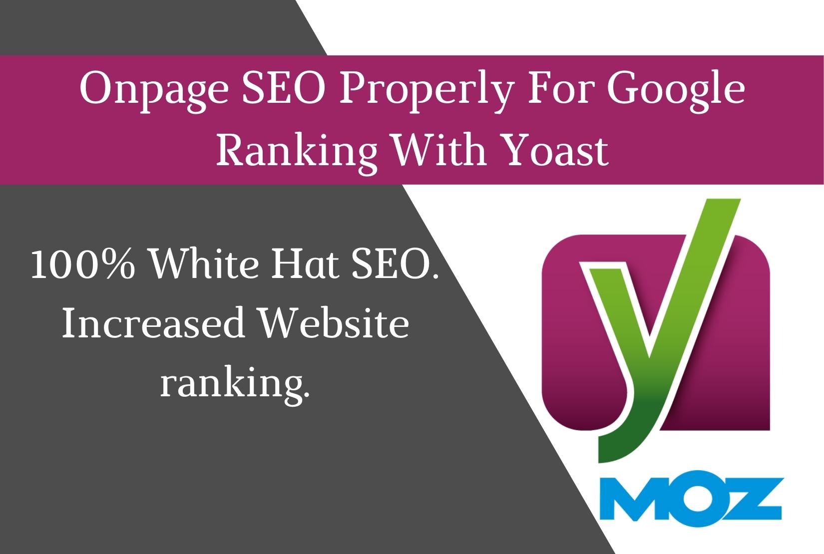 Onpage SEO Properly For Google Ranking With Yoast Seo