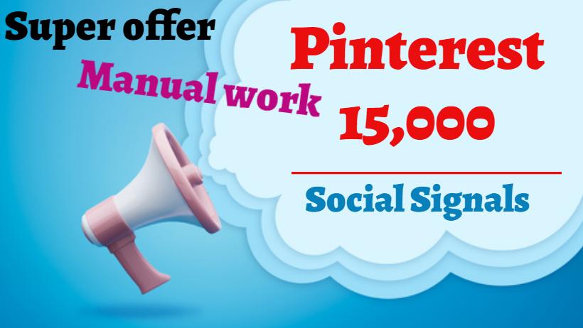 provide you 15,000 Pinterest Social Signals SEO Google Ranking PBN Traffic Bookmark Marketing