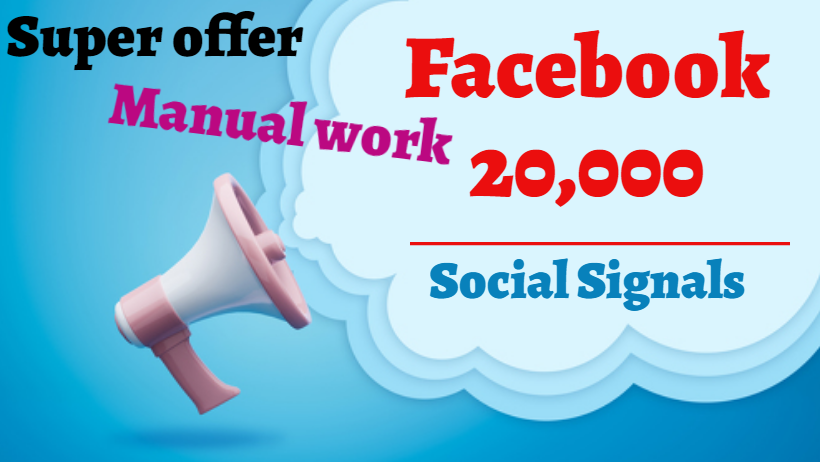 provide you 20,000 website Social Signals SEO Google Ranking PBN Traffic Bookmark Marketing
