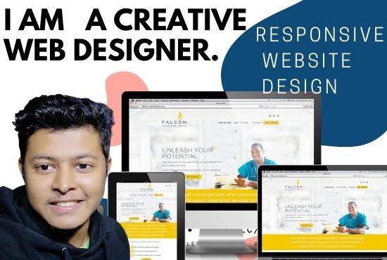 I wiil do a responsive website design for any company