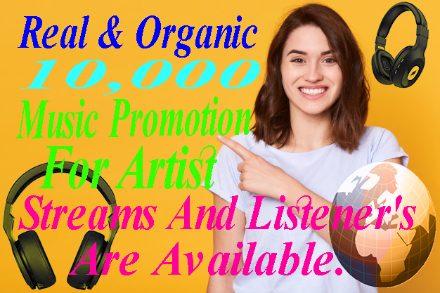 I will drive 10,000 Exclusive Monthly Listeners And Track Streams Promotion For Your Music