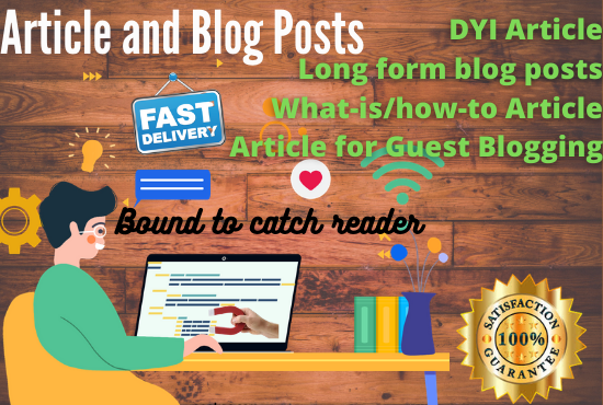 I will write evergreen article and blog posts that engage