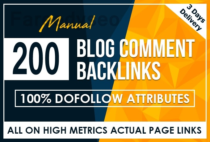 200 dofollow blog comment high Quality backlinks