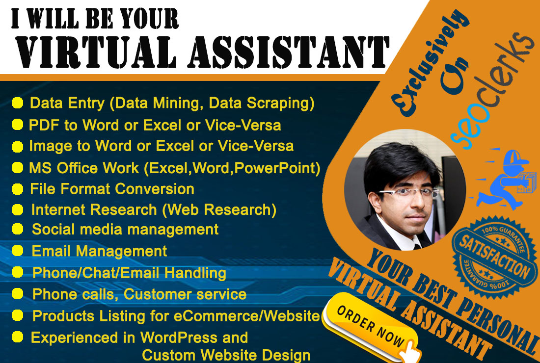 I Will be your reliable multi tasking virtual assistant