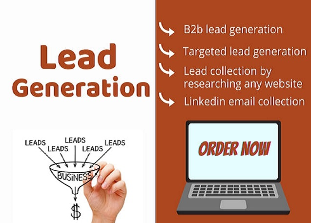 I will do b2b lead generation by doing web research