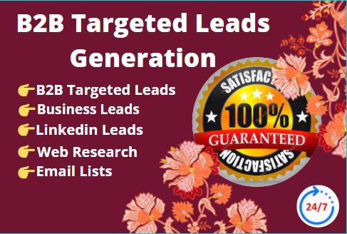 I will do B2B targeted lead generation.