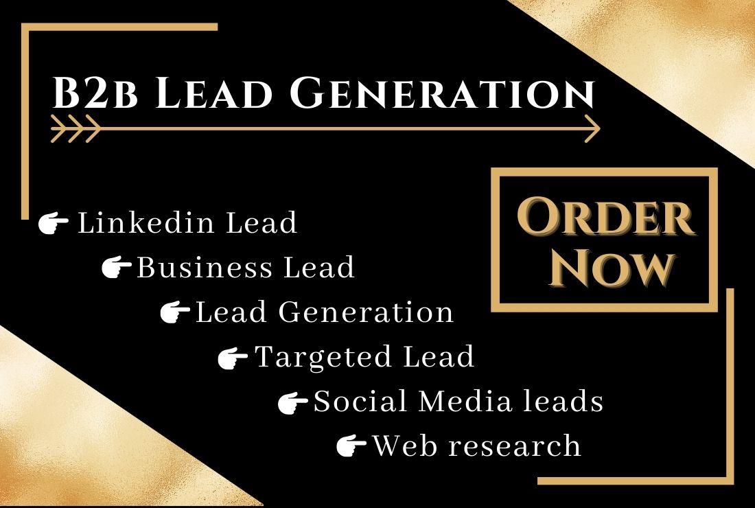 I will provide b2b linkedin targeted lead generation