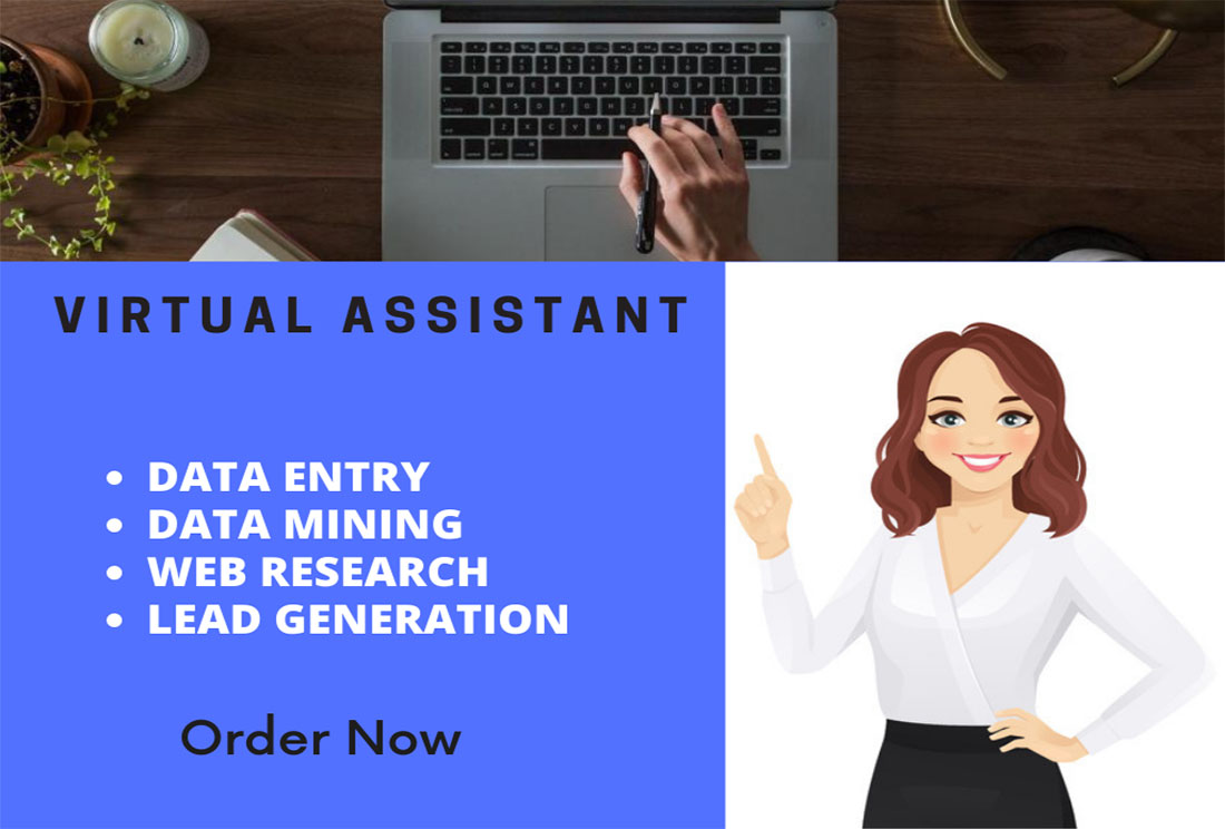I will be your personal virtual assistant for data entry and web research