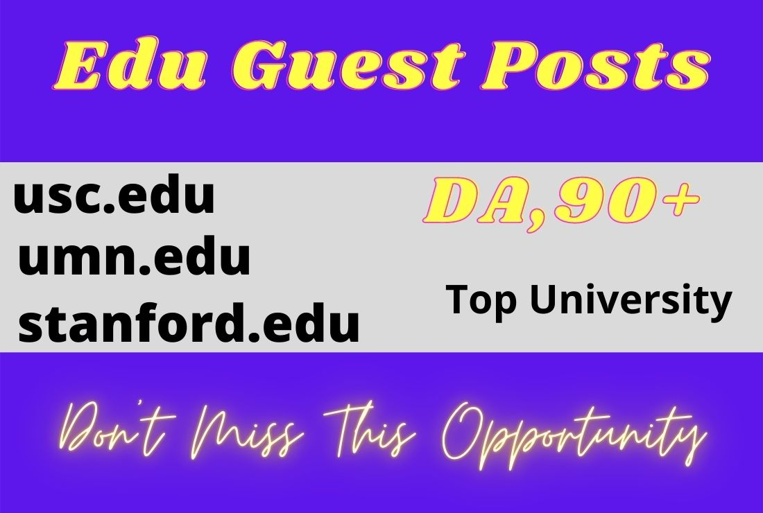 I will write and publish 3 top university edu guest posts on high authority sites