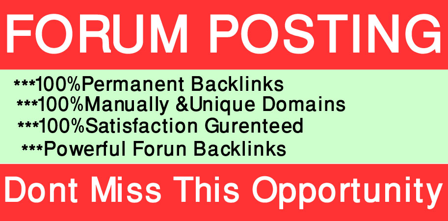 I will manually 30 forum posting on high-quality Website.
