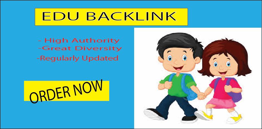 20 EDU backlinks,  high quality SEO and rank higher with google