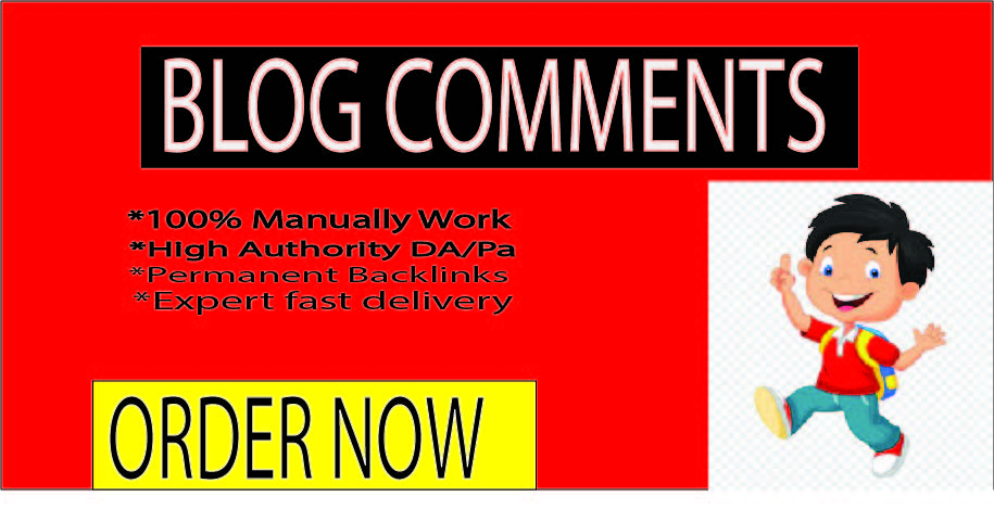 I will create 80 Blog Comments On High-quality DA and PA Sites.