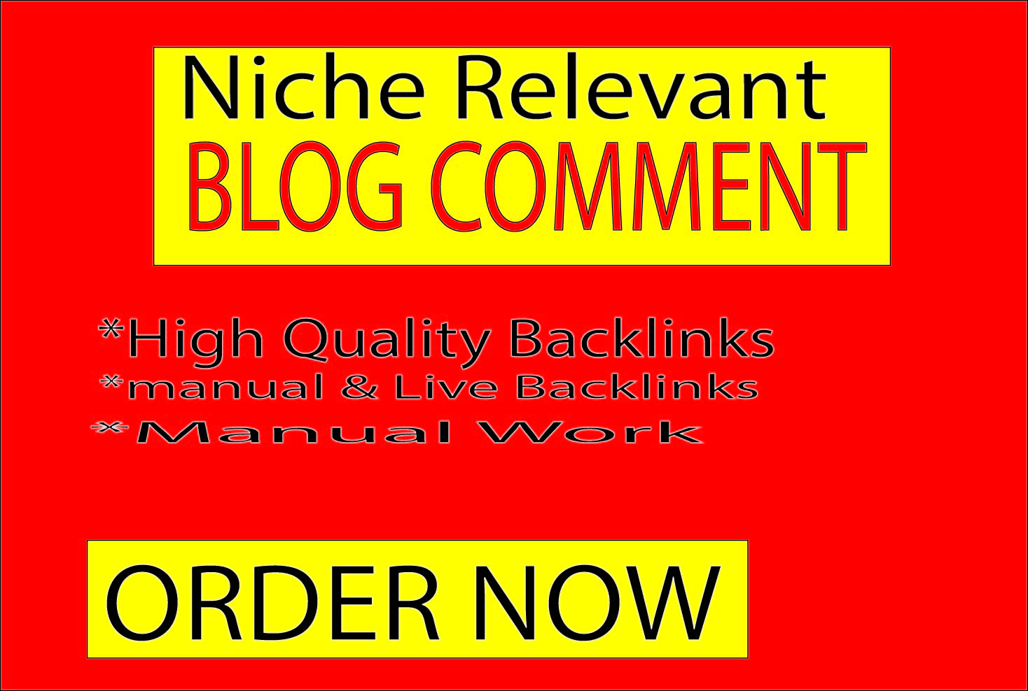 I Will Create 30 Niche Relevant Blog Comments Backlinks On High-Quality Sites.