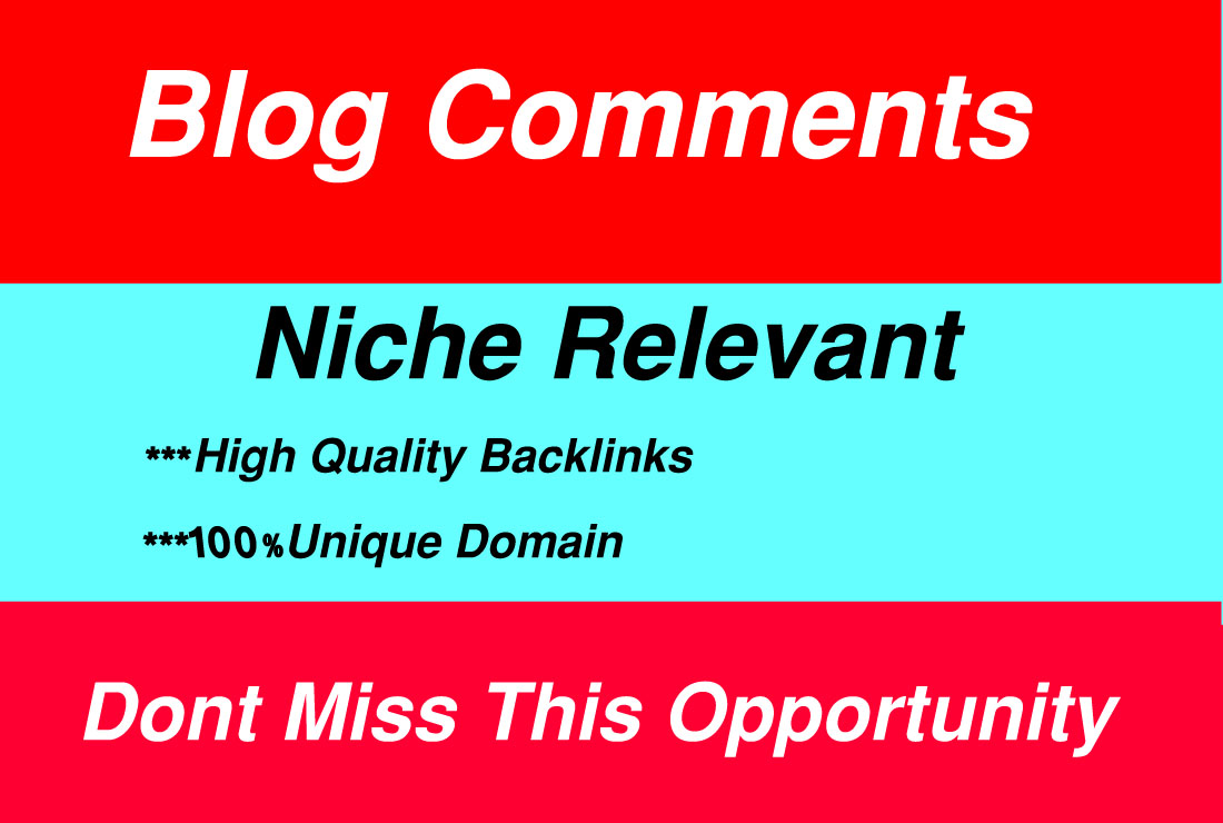I will do 80 niche relevant blog comments backlinks.