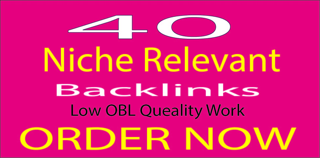 I will do 40 niche relevant blog comments backlinks.