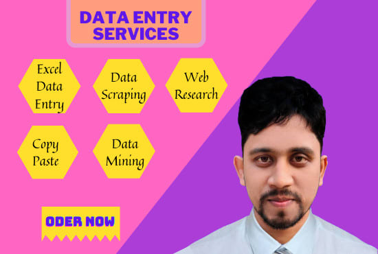 I will do data entry,  data scraping,  copy paste and web research