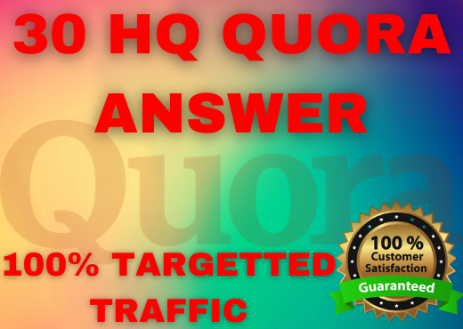 30 HQ unique Quora answer with backlink