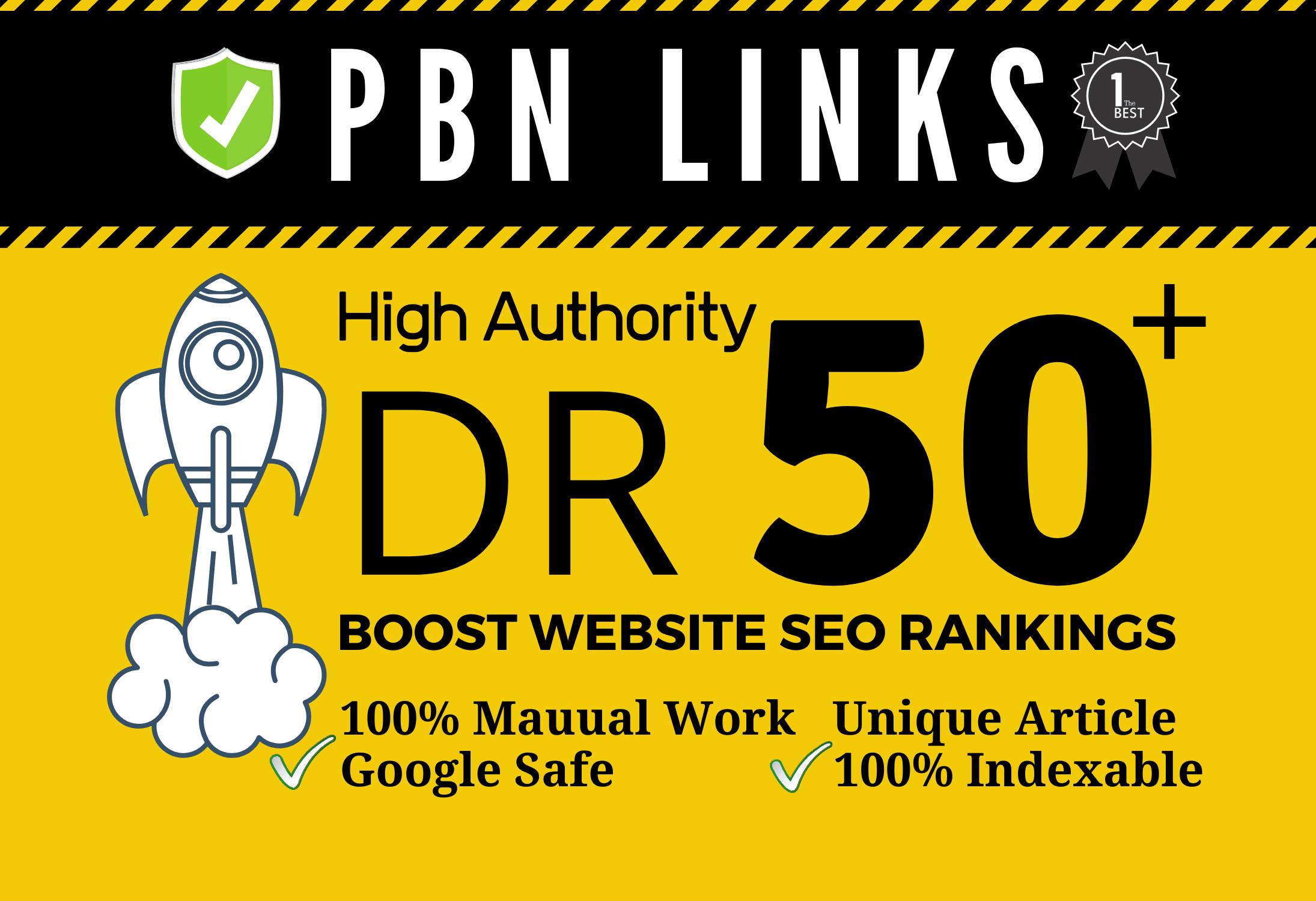 Get 9 DR 50+Homepage High Quality PBN Backlink