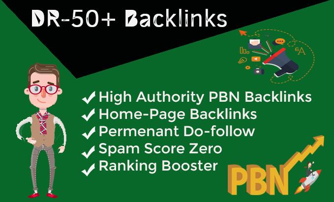 Get 15 High DR 50+ Homepage Dofolow pbn links.