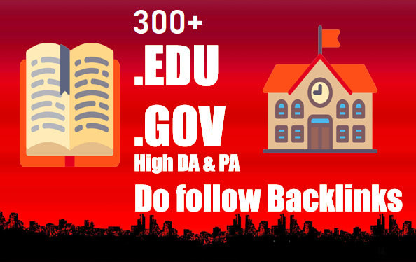 I will increase your website rank on google with 300 powerful edu gov backlinks