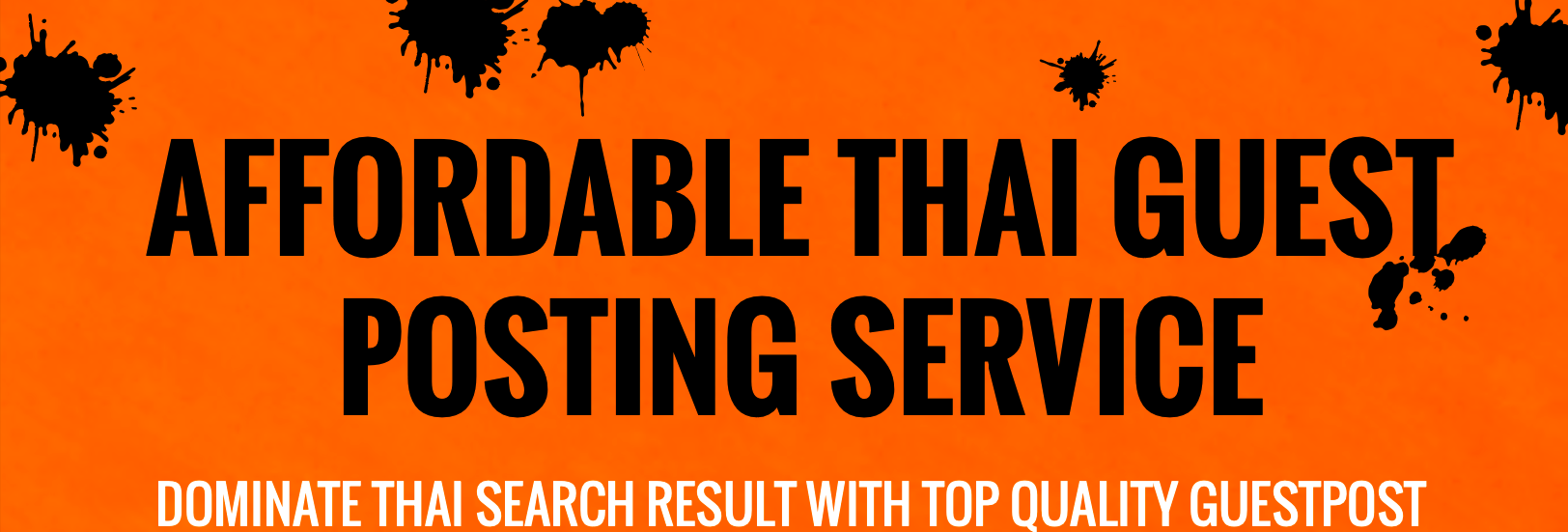 Thailand's premium guest posting service on High authority Thai website all niche acepted