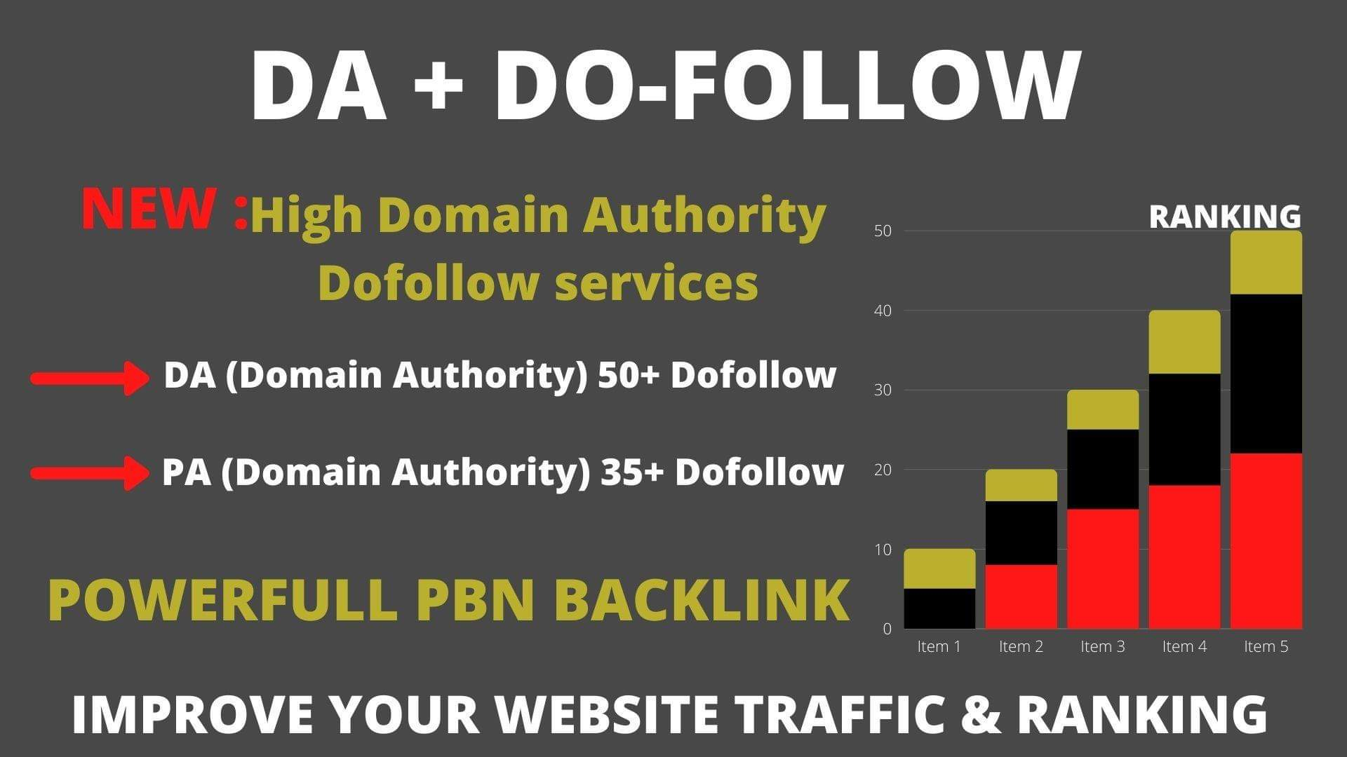 1200+ High DA 50+ HQ Links to RANK your website by boosting your web authority