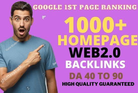 Get Powerful 1000+ Permanent Backlink and PBN with High DA 40+ PA35+ on your Homepage with a unique
